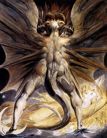 The Great Red Dragon and the Woman Clothed in Sun. William Blake.