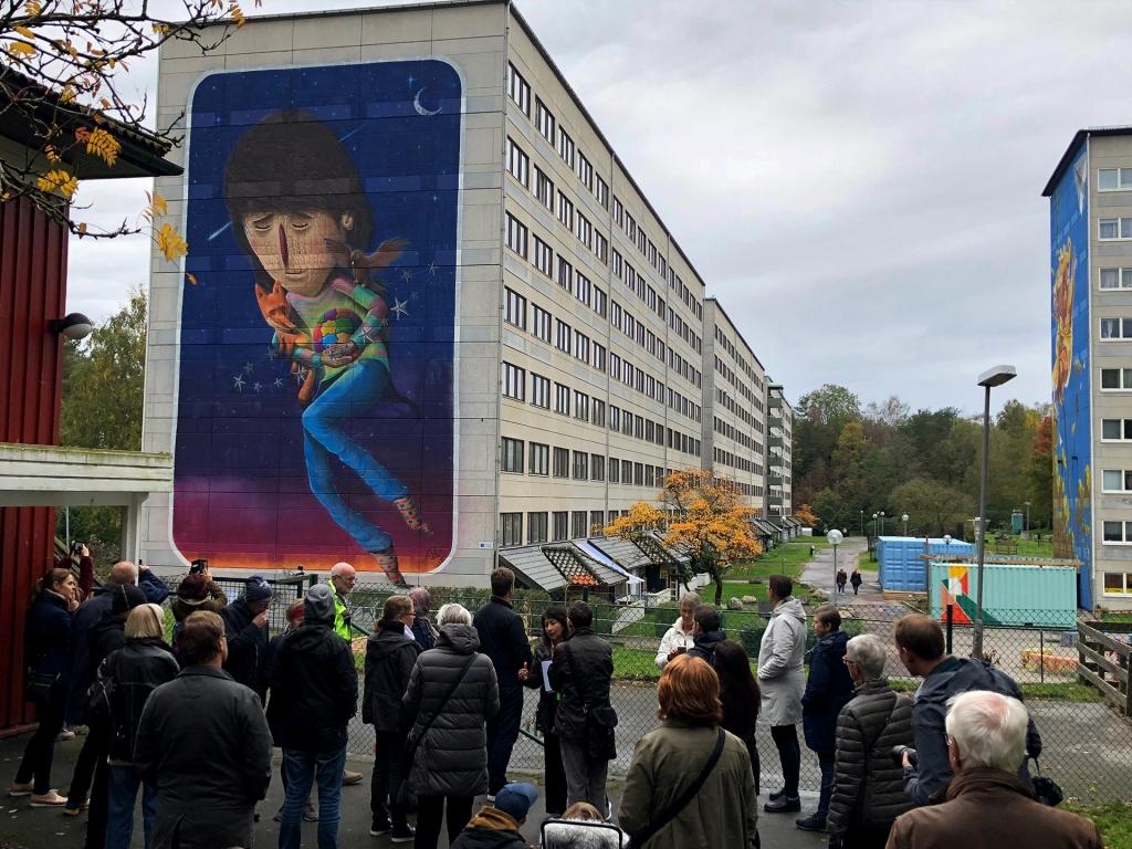 """Invigning av Sens verk """"La protectora"""", oktober 2018. Foto Randal Villalobos"""