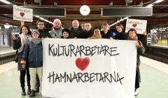 Kulturarbetare i solidaritet med hamnarbetarna
