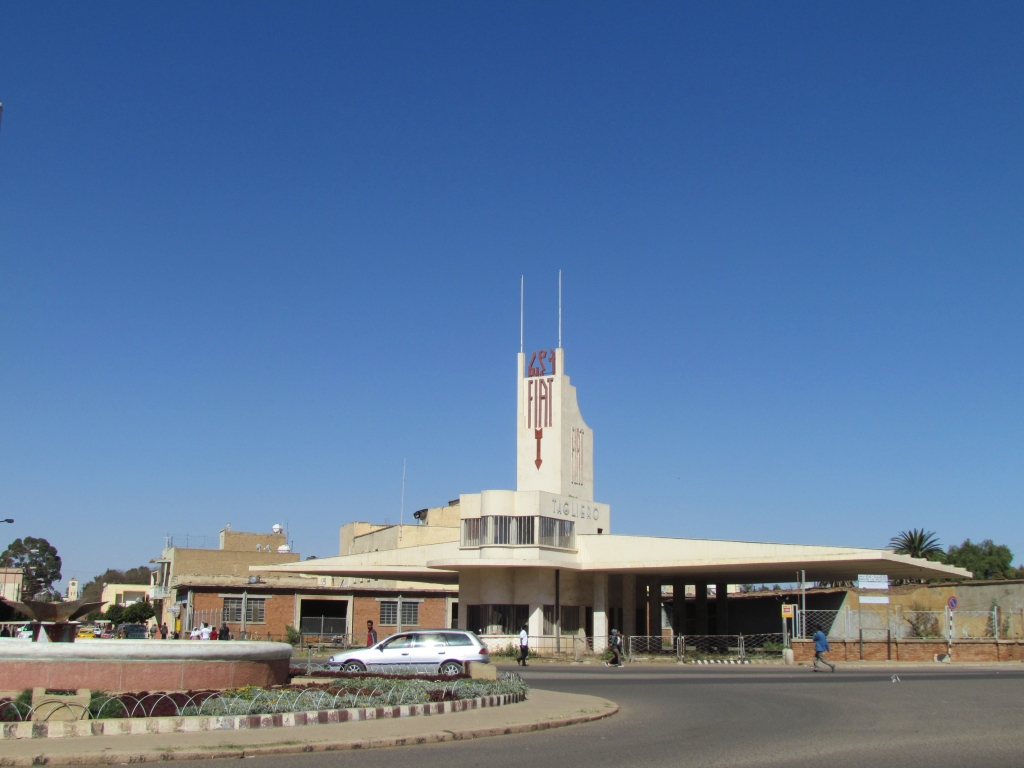 Fiat Tagliero building, Asmara, completed in 1938 during Italian fascist period. Photo: Soroor Notash, February 2019